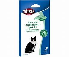 trixie spot on floh und zeckenschutz f 252 r katzen ab 8 49