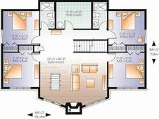 cottage style house plans with basement reverse living lake style house plan 7544 the lakeshore