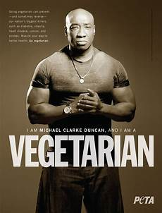 michael clark duncan vegetarian ad for peta ecorazzi