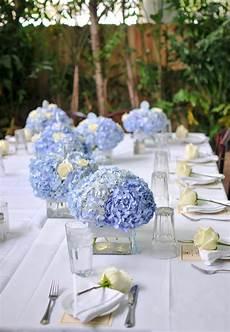 hortensien in tischdeko blaue hortensien hochzeit