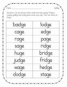 spelling worksheets dge and ge 22357 school frogs dge ge word sort word sorts ge words phonics activities