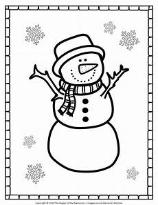 free printable snowman coloring pages snowman