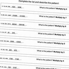 number pattern worksheets that focus multiplication patterns great for psat warmup math