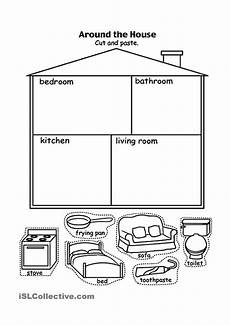 parts of the house kids eng preschool worksheets teaching english kids english