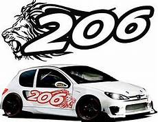 Stickers Peugeot 206 Car Stickers Tuning 206 Stickers Ebay