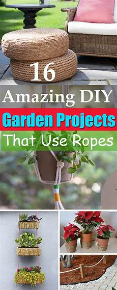 16 diy rope projects and ideas for the garden balcony garden web