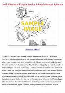 service manuals schematics 2012 mitsubishi eclipse security system 2012 mitsubishi eclipse service repair manual by danutacatlett issuu