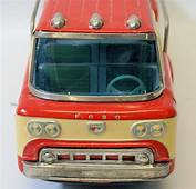 RARE Vintage Tin Friction Large Scale FORD Flatbed Pickup