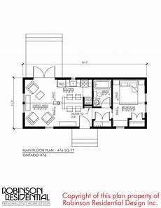 bungalow house plans ontario 476 sq ft ontario tiny house plan with images tiny