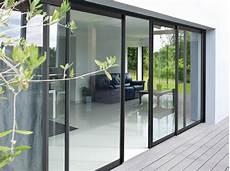 baie vitrée coulissante baie vitr 233 e coulissante volet aluminium blanc