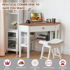 home office furniture canada costway corner computer desk laptop writing table wood