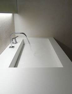 lavandini in corian white custom bathroom in corian villa in sardinia by