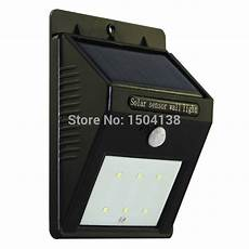 waterproof 6 led solar power infrared pir motion sensor panel induction garden outdoor wall