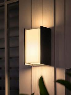 philips hue turaco led outdoor wall light black in 2020 outdoor wall lighting led outdoor
