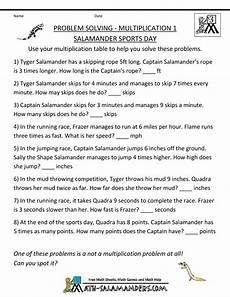 multiplication worksheets word problems grade 4 4674 multiplication word problems multiplication 1 salamander sports day gif 790 215 1 022 pixels math