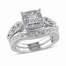 1 5 ct t w diamond cascading bridal in sterling