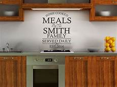 Kitchen Door Transfers by Personalised Family Kitchen Wall Quote Wall Sticker