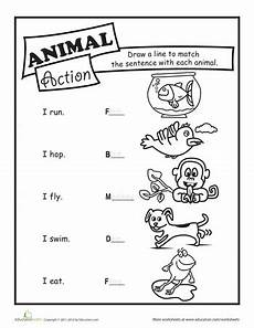 animal action verbs verb worksheets action verbs verbs for kids