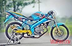 Modifikasi Lama Standar by Vixion Modif Racing Warna Biru Simple Vegafans