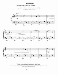 download edelweiss easy piano solo sheet music by rodgers hammerstein sheet music plus