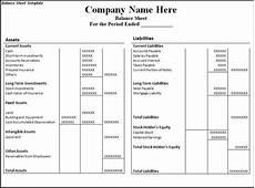 balance sheet templates balance sheet template balance sheet statement template