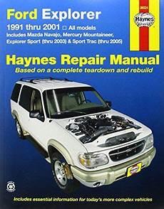 best auto repair manual 2003 mercury mountaineer security system ford explorer 1991 2001 explorer sport thru 2003 sport trac 2005 haynes repair manual