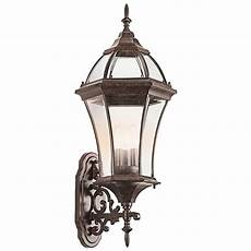 kichler outdoor wall light with clear glass in tannery bronze finish 49185tz destination