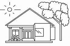 18 Contoh Mewarnai Gambar Rumah Dengan Beragam Desainnya
