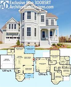 sims 3 beach house plans plan 30085rt exclusive victorian with bay windows in 2019