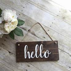 hello home decor hello welcome sign for front door wreath sign by