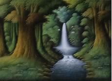 Gambar Pemandangan Air Terjun Kartun Berwarna Gambar