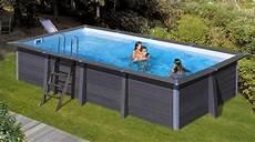 wpc composite pool rechteckig 6 06 x 3 26 x 1 24 m inkl