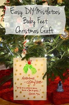 Basteln Kleinkinder Weihnachten - easy diy mistletoes baby craft target gift