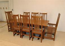 mission style arts crafts oak dining room with 8