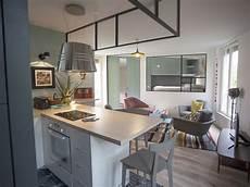 ilot central fait maison 53606 1 238 lot de cuisine fa 231 on bar 10 exemples gain de place en images