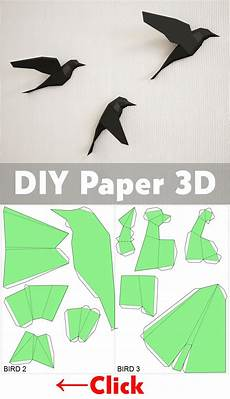 how to make a 3d bird model 3d papercraft birds on wall diy paper model sculpture origami papercraft pdf animal low poly