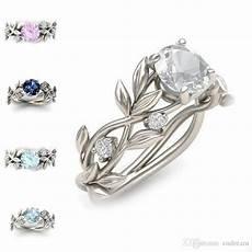 new branch elven crystal diamond ring cubic zirconia ring