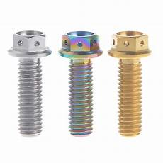 m8 titanium hex head race spec bolts drilled lock wire 25mm x1 25tp cycling bolts 1piece in