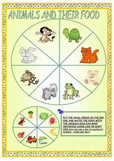 worksheets with animals and their food 14086 animals and their food worksheet free esl printable worksheets made by teachers
