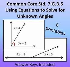 learning worksheets 19321 using equations to solve for unknown angles common 7 g 5 angles worksheet interior