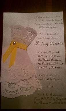lace doily bridal shower invites i made this bridal