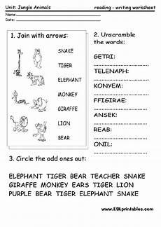 jungle animal worksheets 14319 jungle animals interactive worksheet