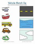 Transportation Match Up  Pinterest The Box Vehicles