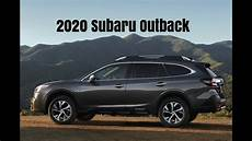 all new 2020 subaru outback crossover driving