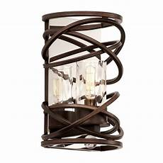 rustic wall sconces eternity 1 light wall sconce