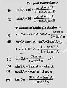 trigonometric equations formulas trigonometry functions and rules for ssc and competitive exams oblity