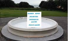 bassin de jardin rond bassin en reconstituee rond au jardin d