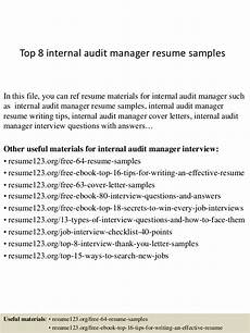top 8 internal audit manager resume sles