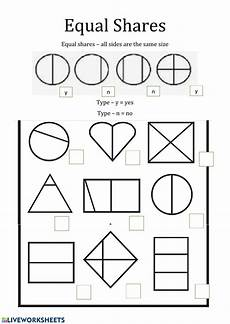 fractions equal parts interactive worksheet