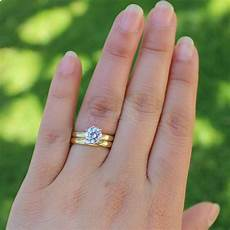 14k yellow gold 0 5ct 5mm moissanite engagement solitaire